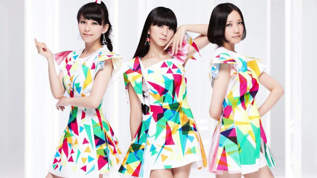"Perfume's promotional image for the release of their single, ""1mm""."