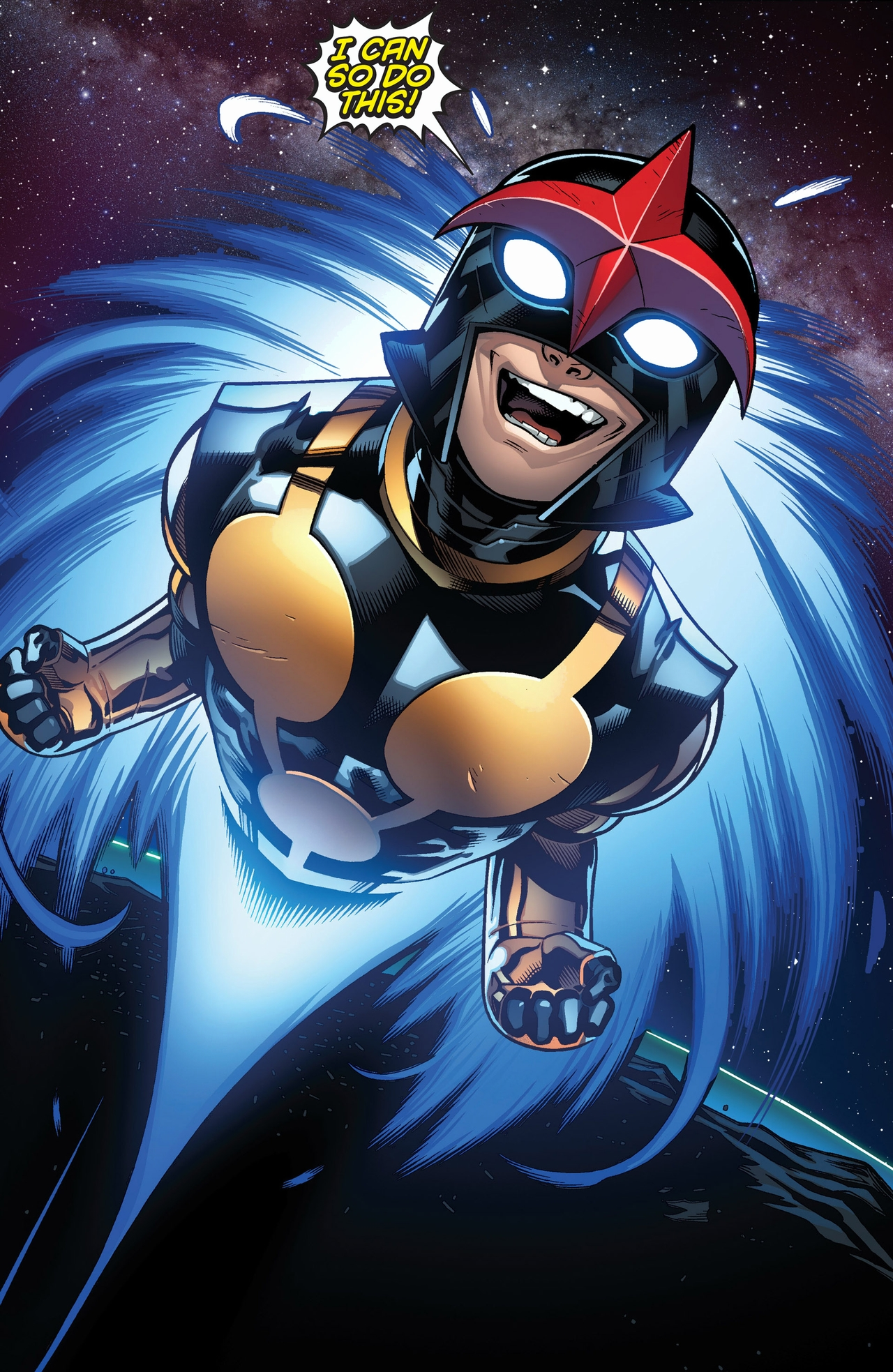 Latinx Superheroes: Sam Alexander as Nova in the Marvel Universe.