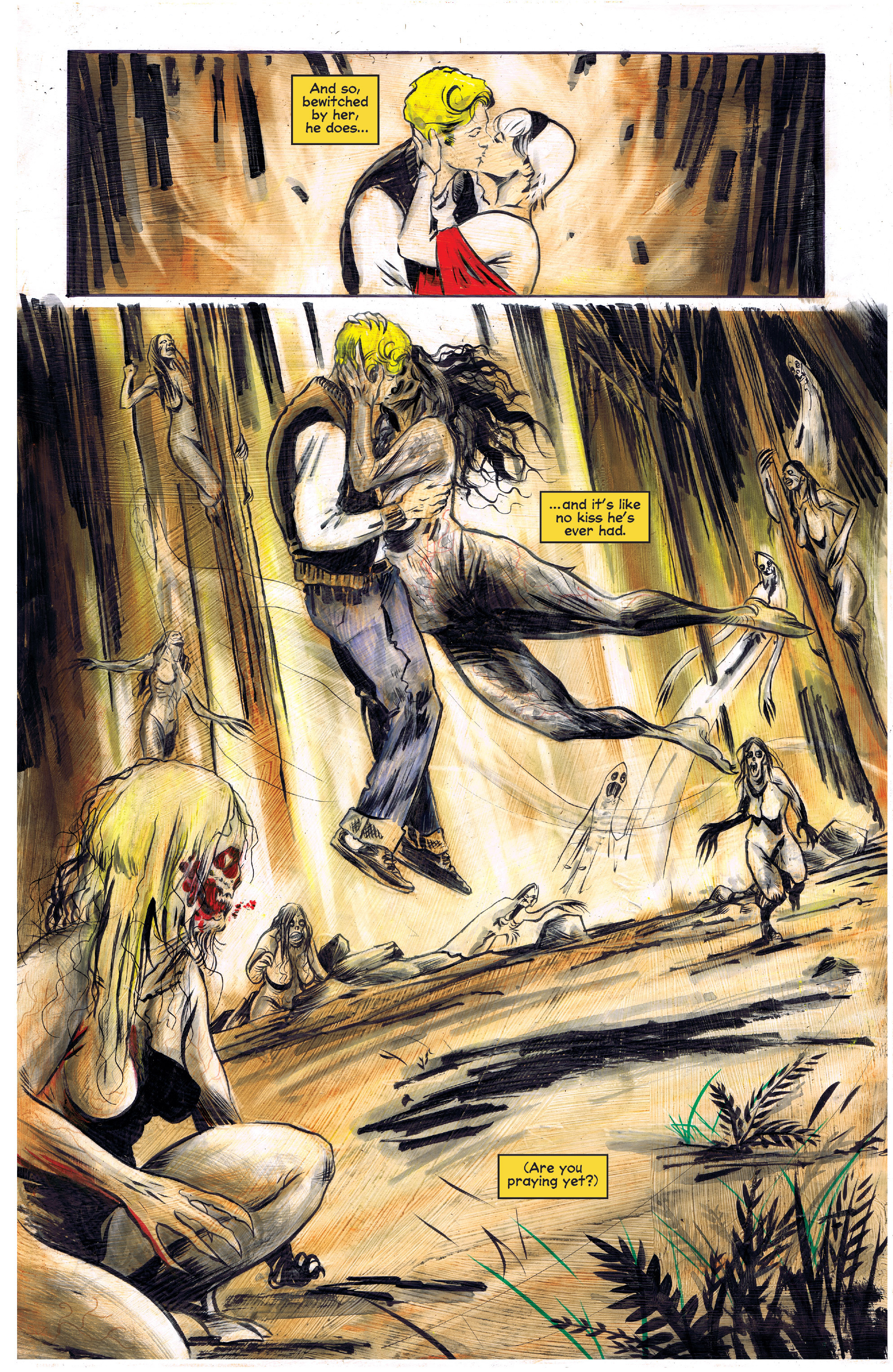 Forest full of monstrous ghosts of witches: Chilling adventurous of Sabrina: spooky comics