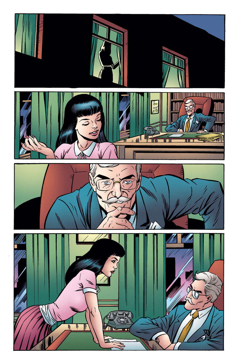 Archie 1955 #1 comic panel - Veronica and Hiram Lodge chat