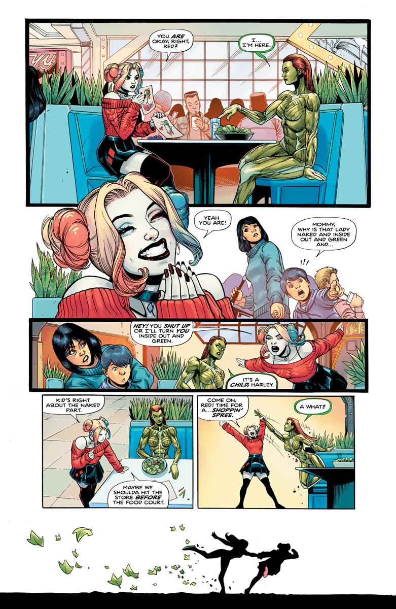 Harley Quinn and Poison Ivy #1, page 4, Ivy And Harley Eating.