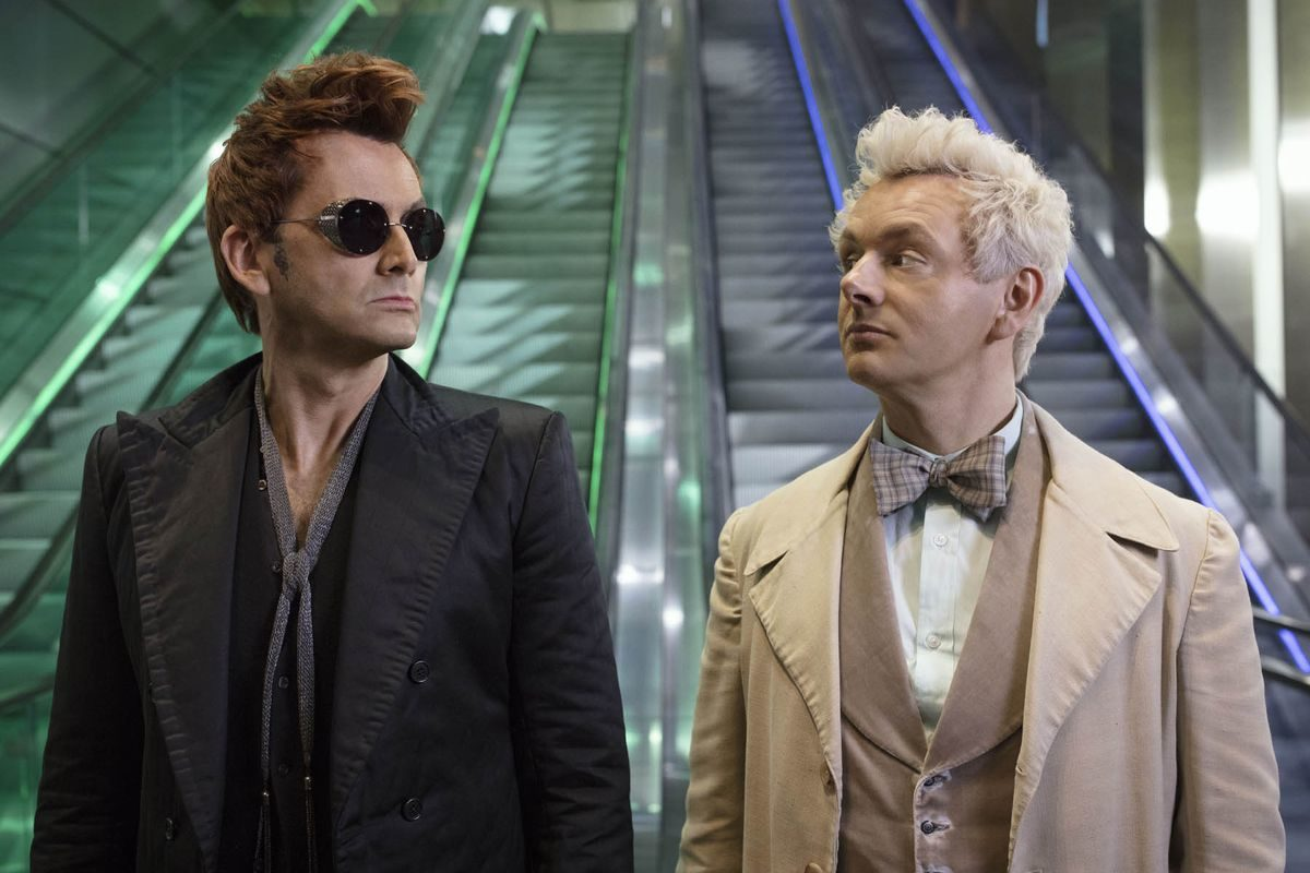 Crowley and Aziraphale do not gaze deeply into each other's eyes