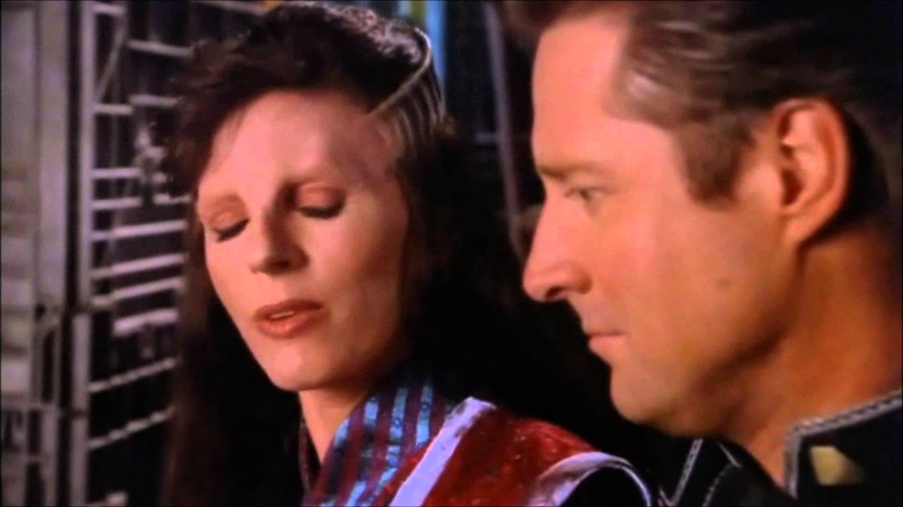 Delenn tries to convince her stubborn friend-to-lover, John Sheridan to fight back against evil.