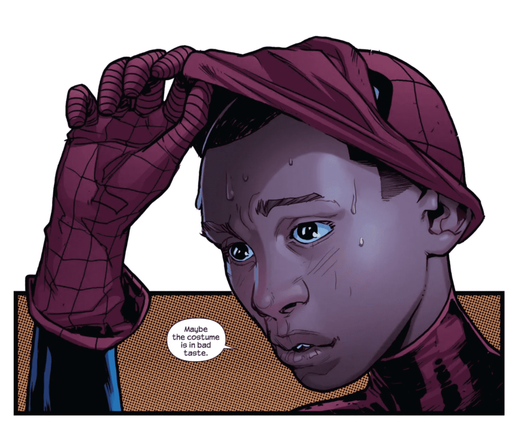 Miles Morales in The Spider-Man Series by Bendis and Picheli.