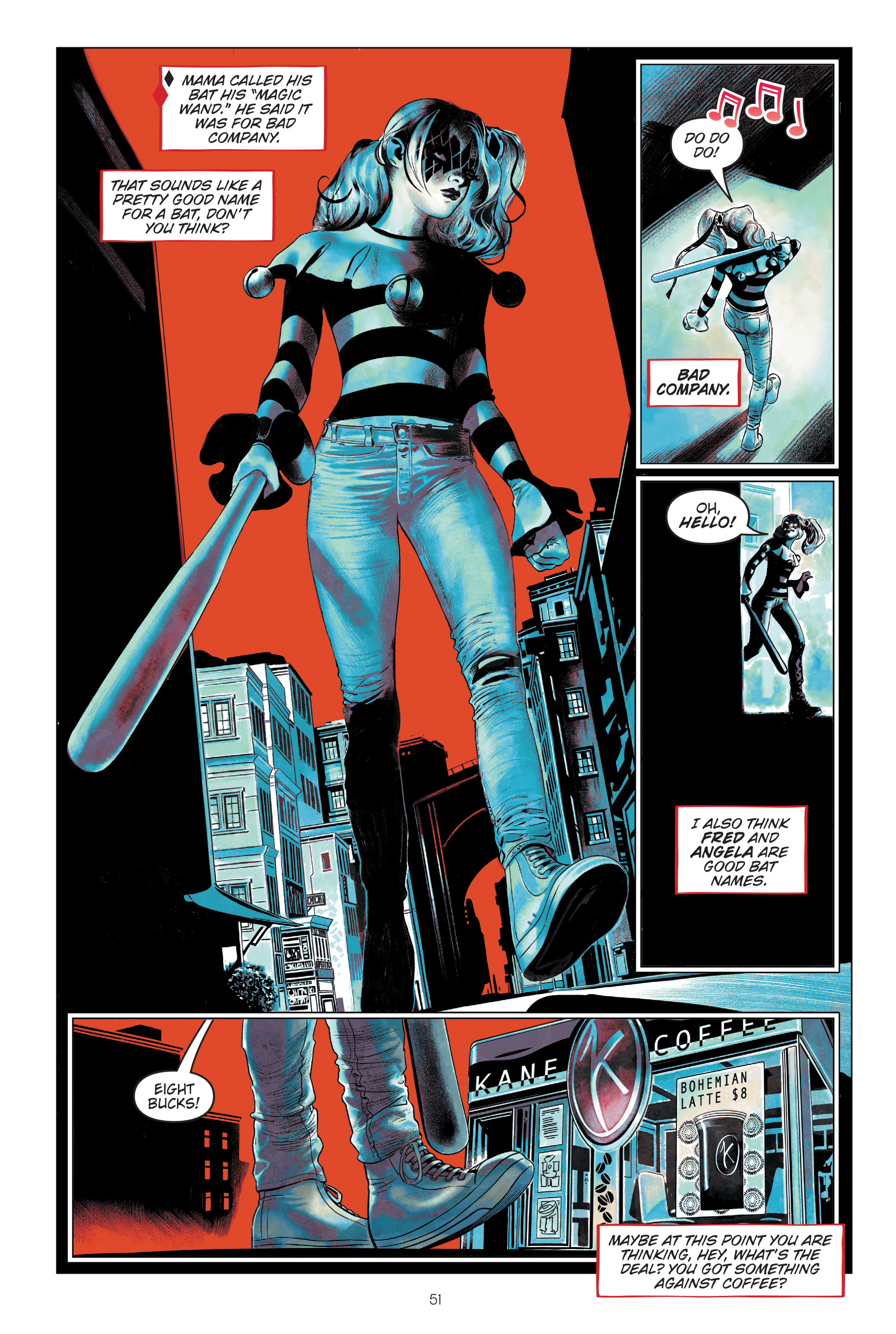 Harley Quinn: Breaking Glass Page 51, DC 2019.