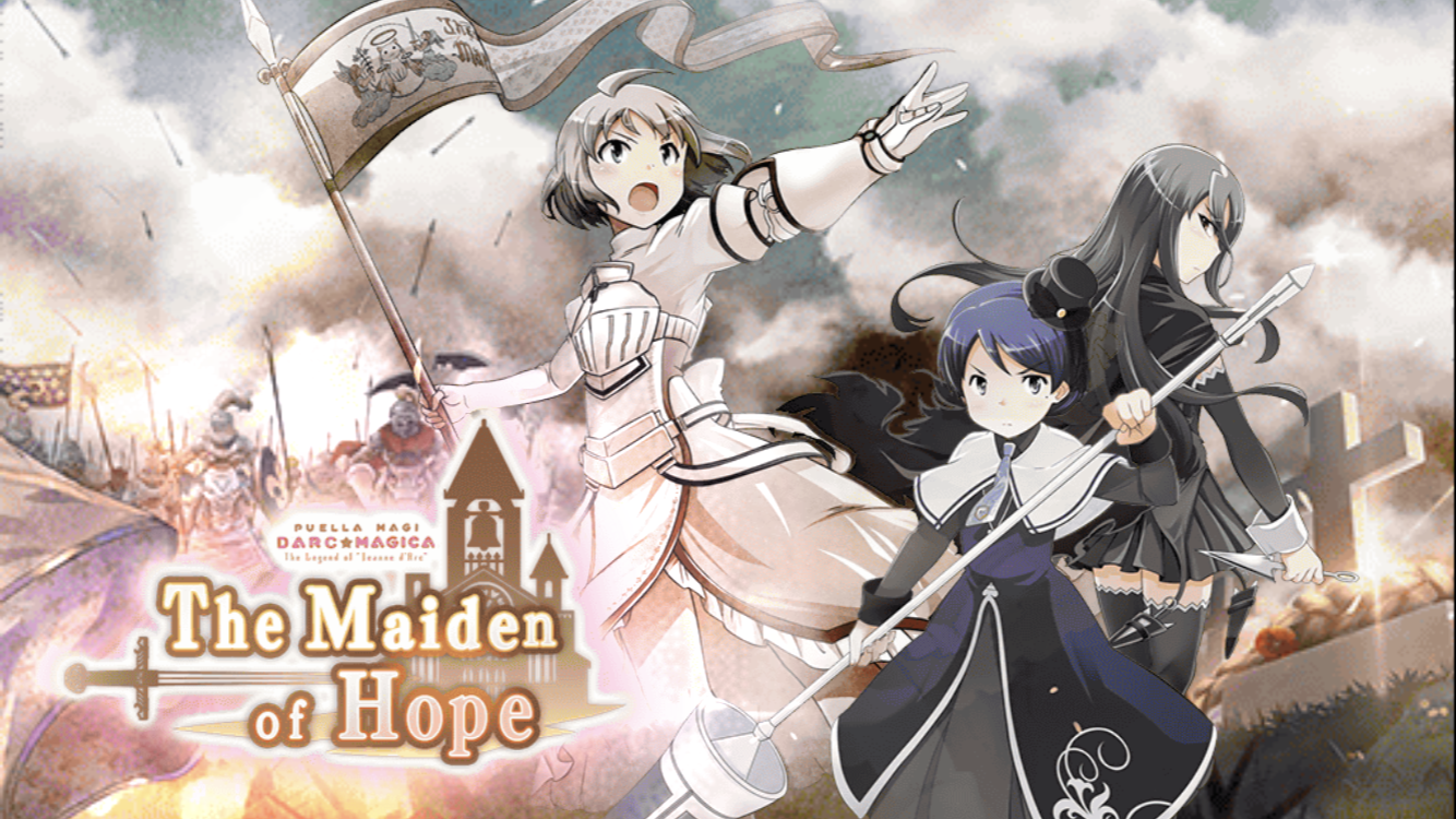 Tart, Melissa, and Riz from the Magia Record mobile game's event The Maiden Of Hope, based on the plot.