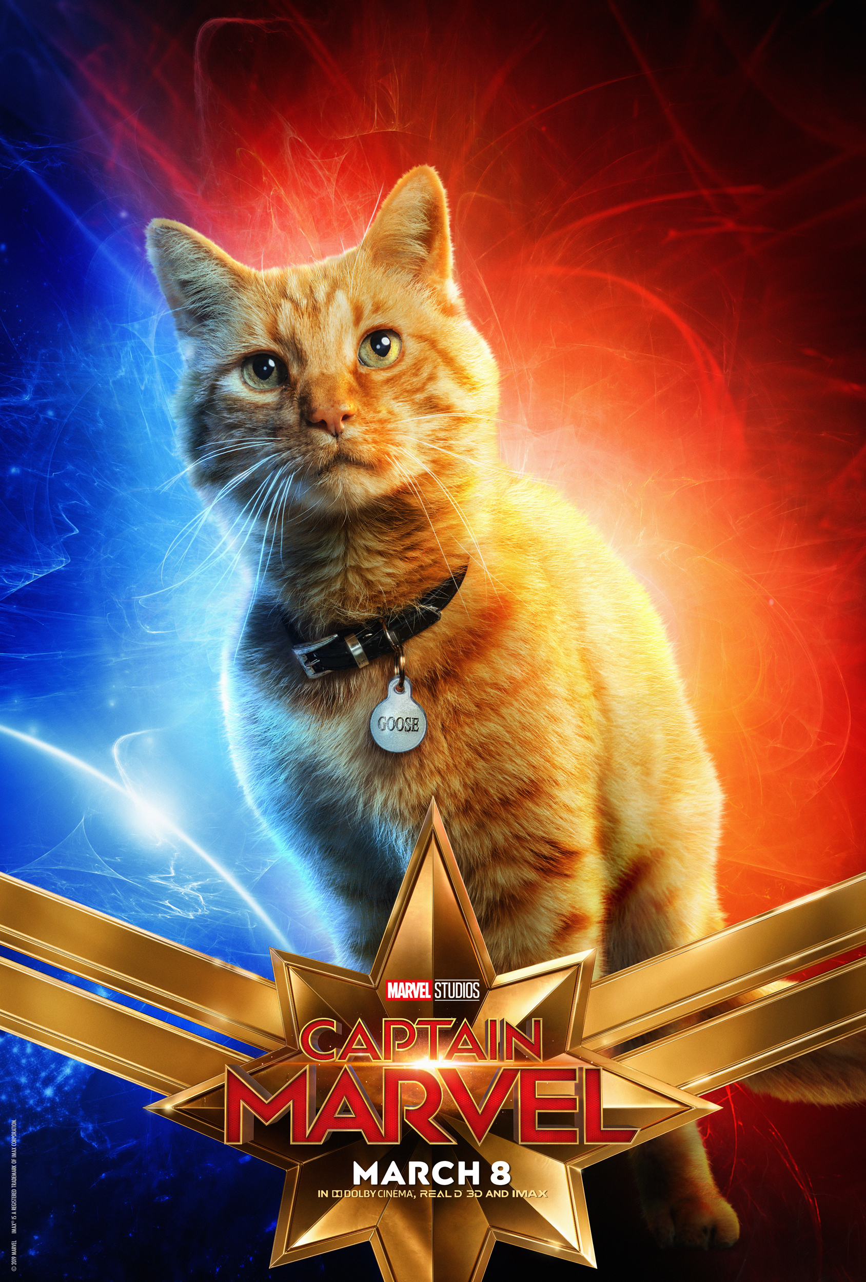 Animal Companions: Goose the Flerken in Captain Marvel.