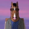 Sn. 5 of Bojack Horman with Bojack looking into the Hollywood skylight.