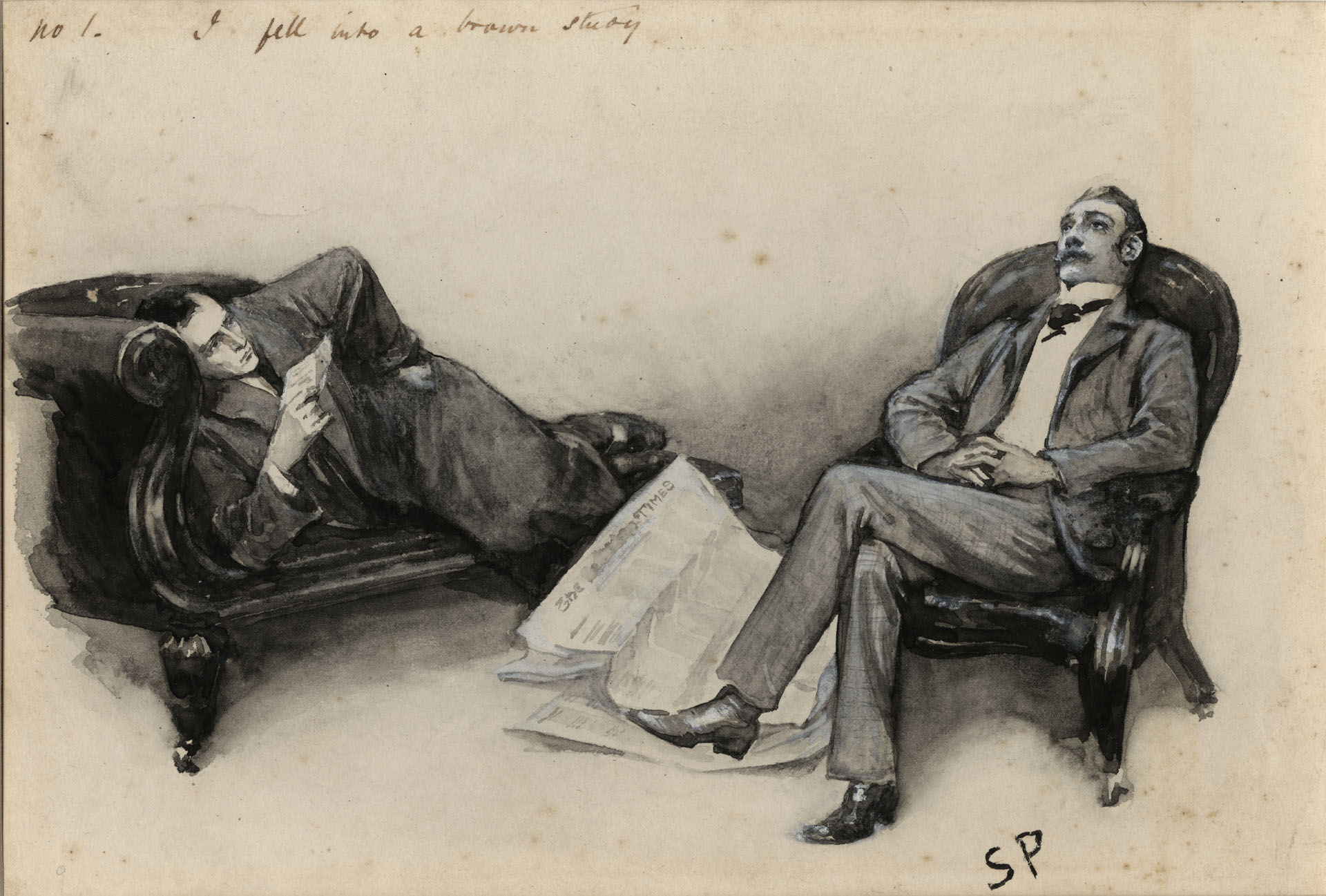 Sherlock poses while Watson stares exasperatedly into the sky: ho-yay