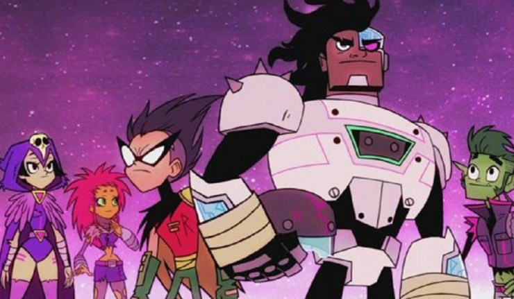 "Teen Titans in ""The Night Begins To Shine."""