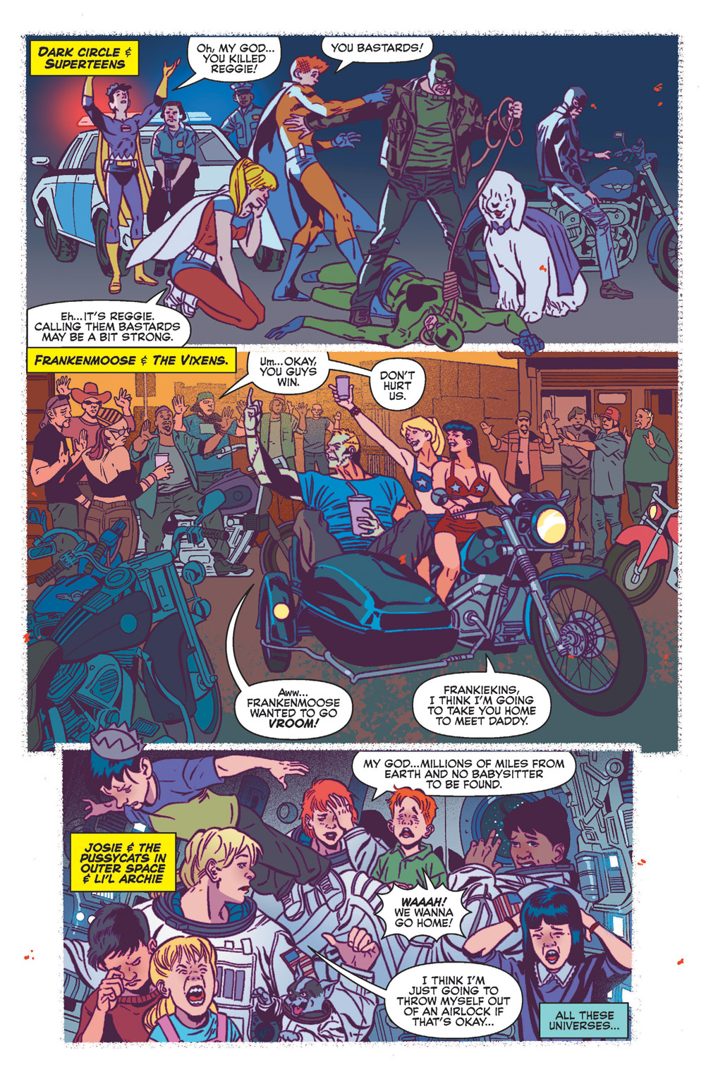 Glimpses of the Multiverse in Jughead the Hunger Vs Vampironica #5.