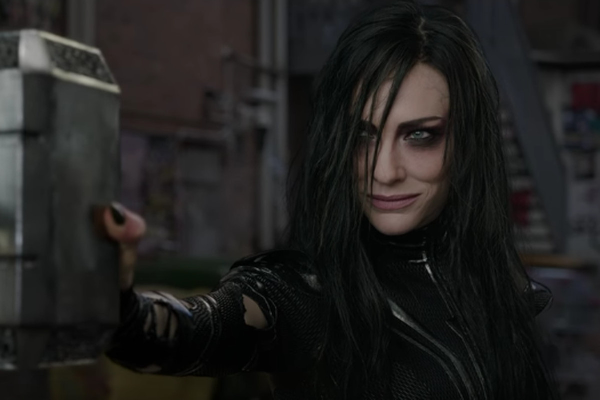 Hela, goddess of the underworld in Thor: Ragnarok.