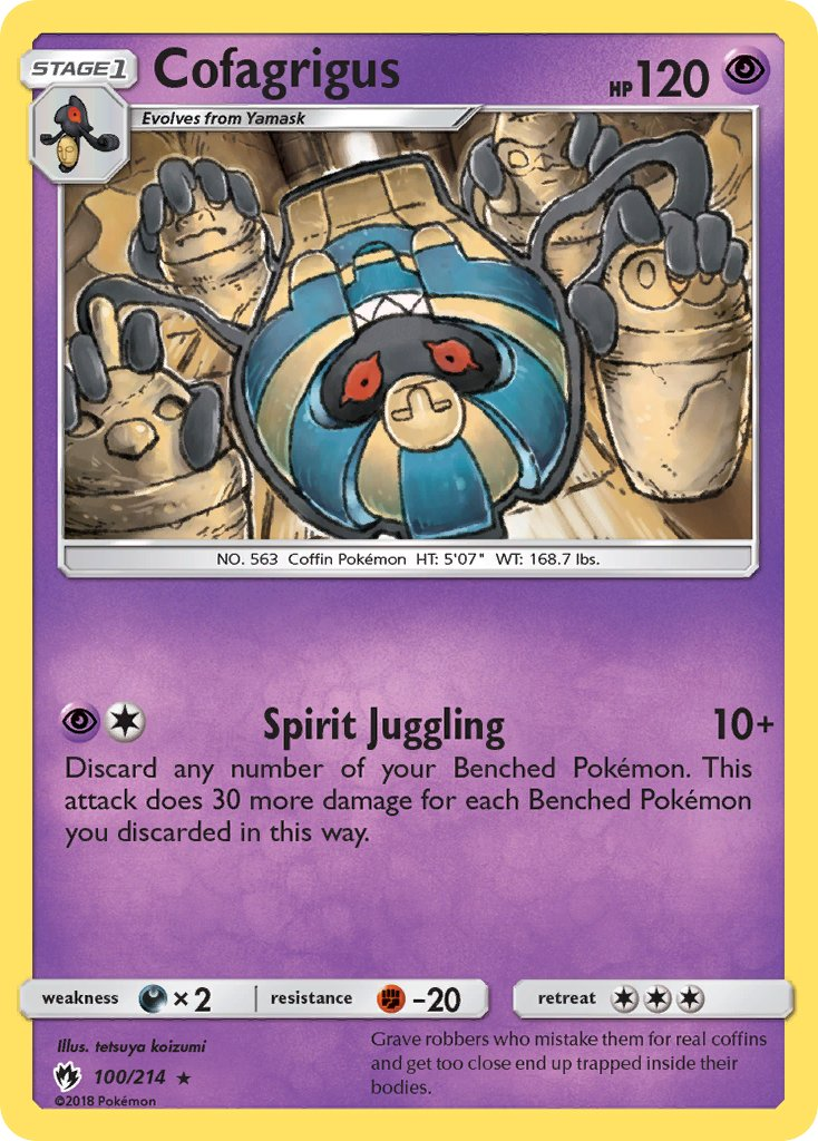 Pokémon card for Cofarigus.