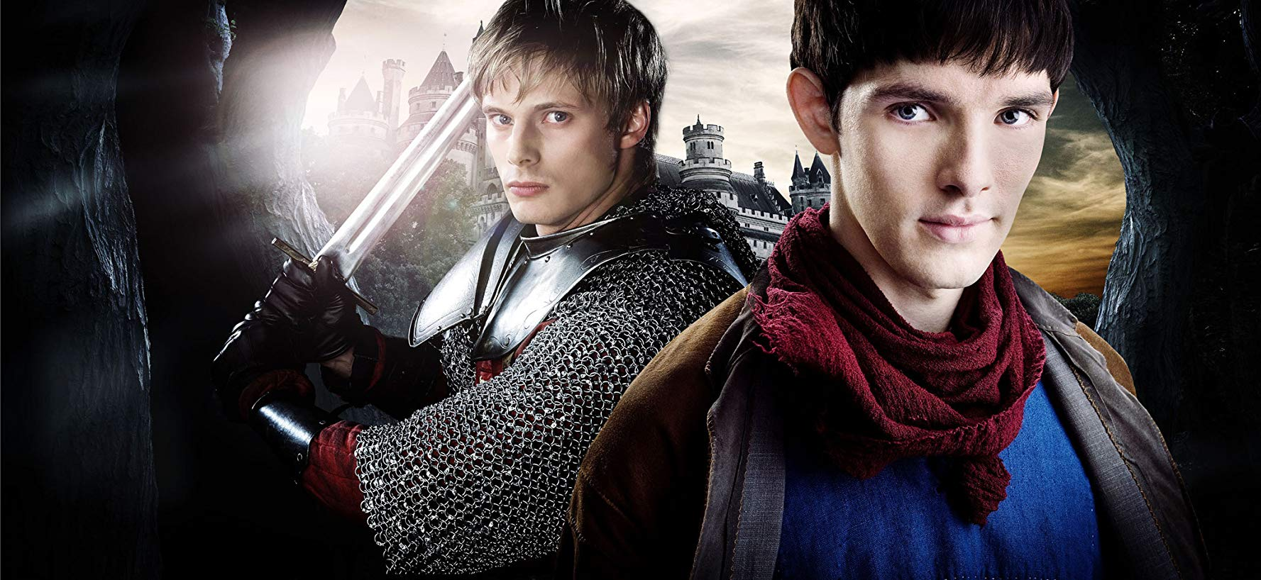 The BBC promotional image for Merlin showcases how important the Merthur dynamic is to the show.