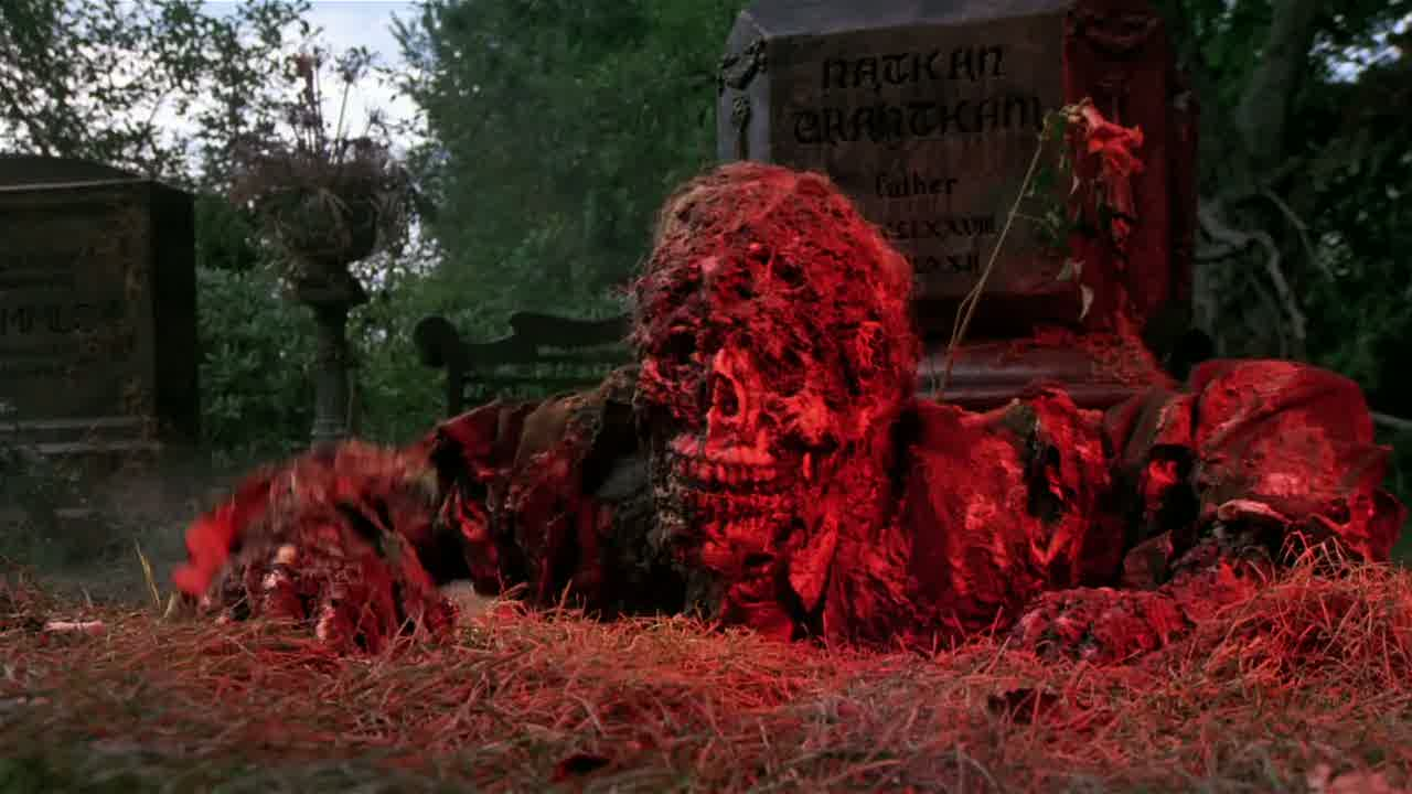 Zombie crawling out of a grave from the film, Creepshow.
