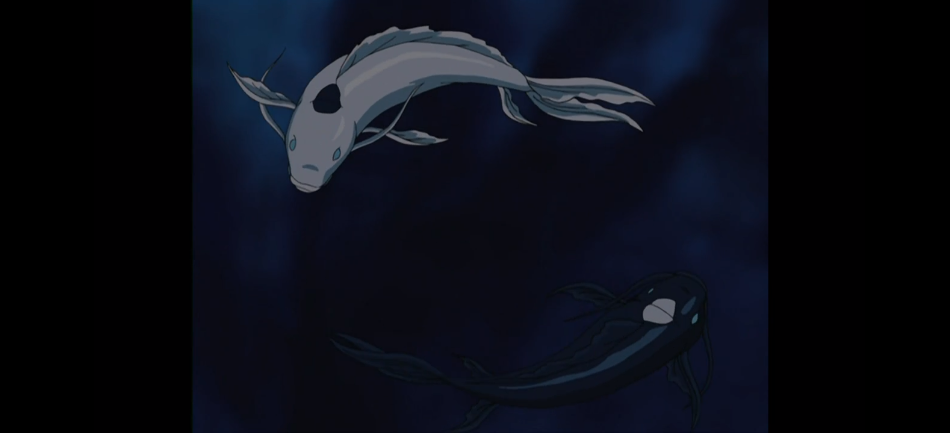 Two koi fish resembling and representing yin and yang, encircle each other in the season one finale of Avatar: The Last Airbender.