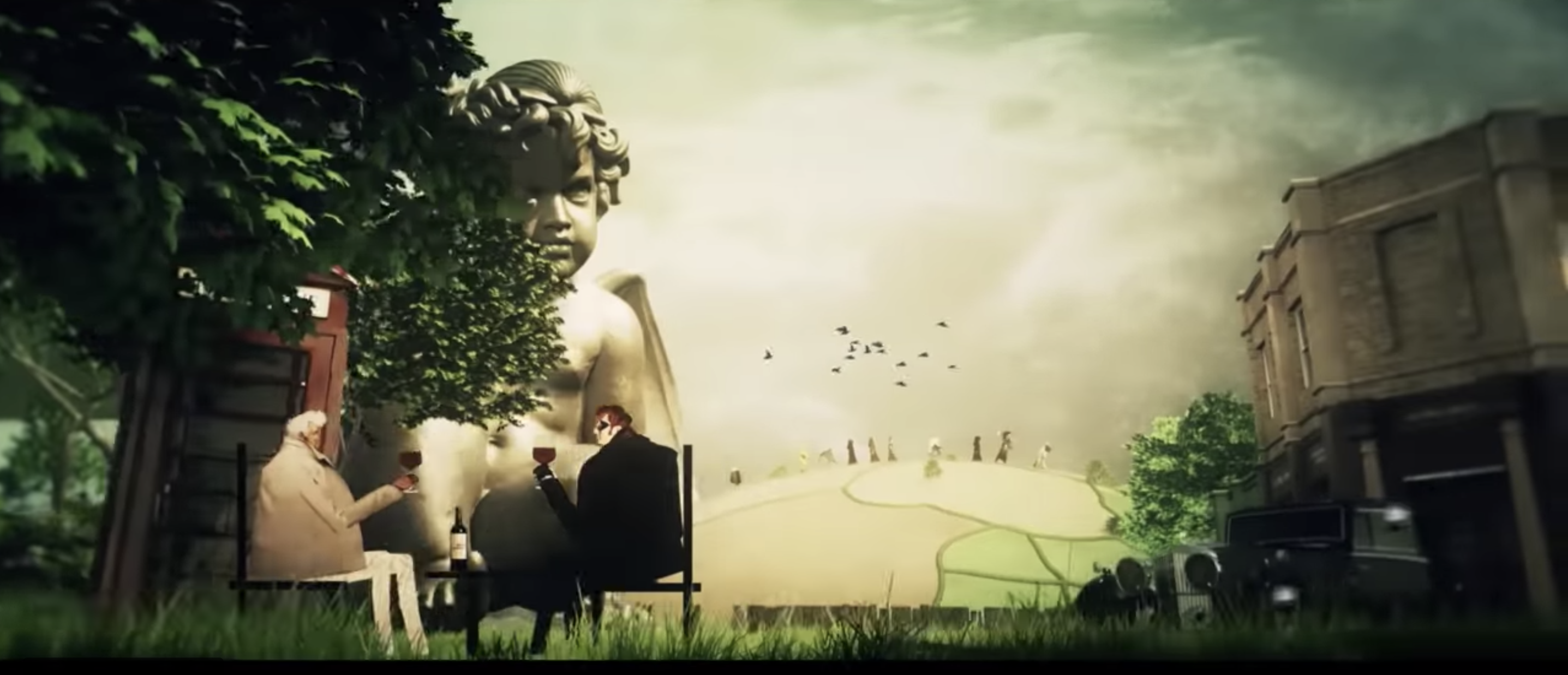 The opening scene from the series.