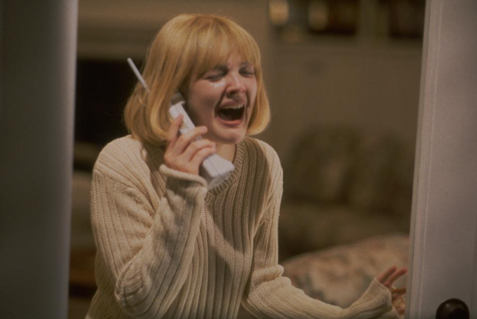 The first SCREAM film (1996) starring Drew Barrymore // Woods Entertainment.