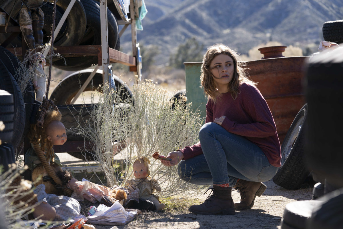 "Into The Dark -- ""They Come Knocking"" - After losing his wife to cancer, a father takes his two daughters on a road trip where he finds his family in the crosshairs of terrifying supernatural entities. Claire (Josephine Langford), shown. (Photo by: Greg Gayne/Hulu)"
