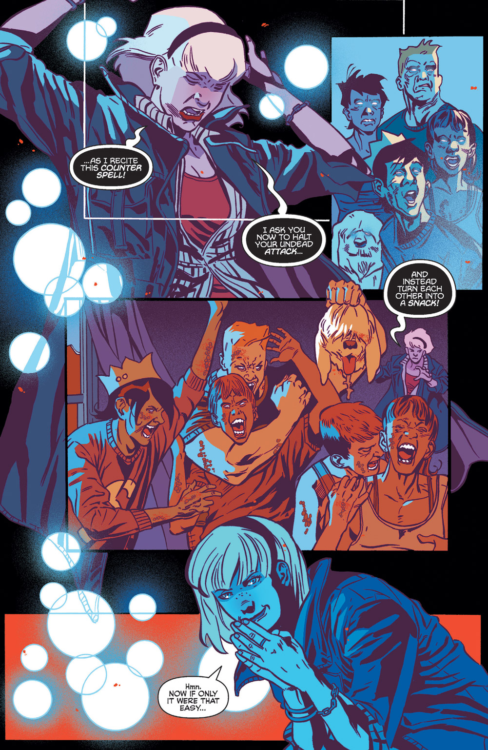 Sabrina using a powerful spell in Jughead the Hunger Vs Vampironica #5.