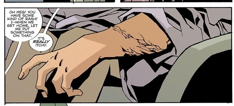 The start of the creeping rash. Family Tree #1, Page 9, Image Comics (2019).