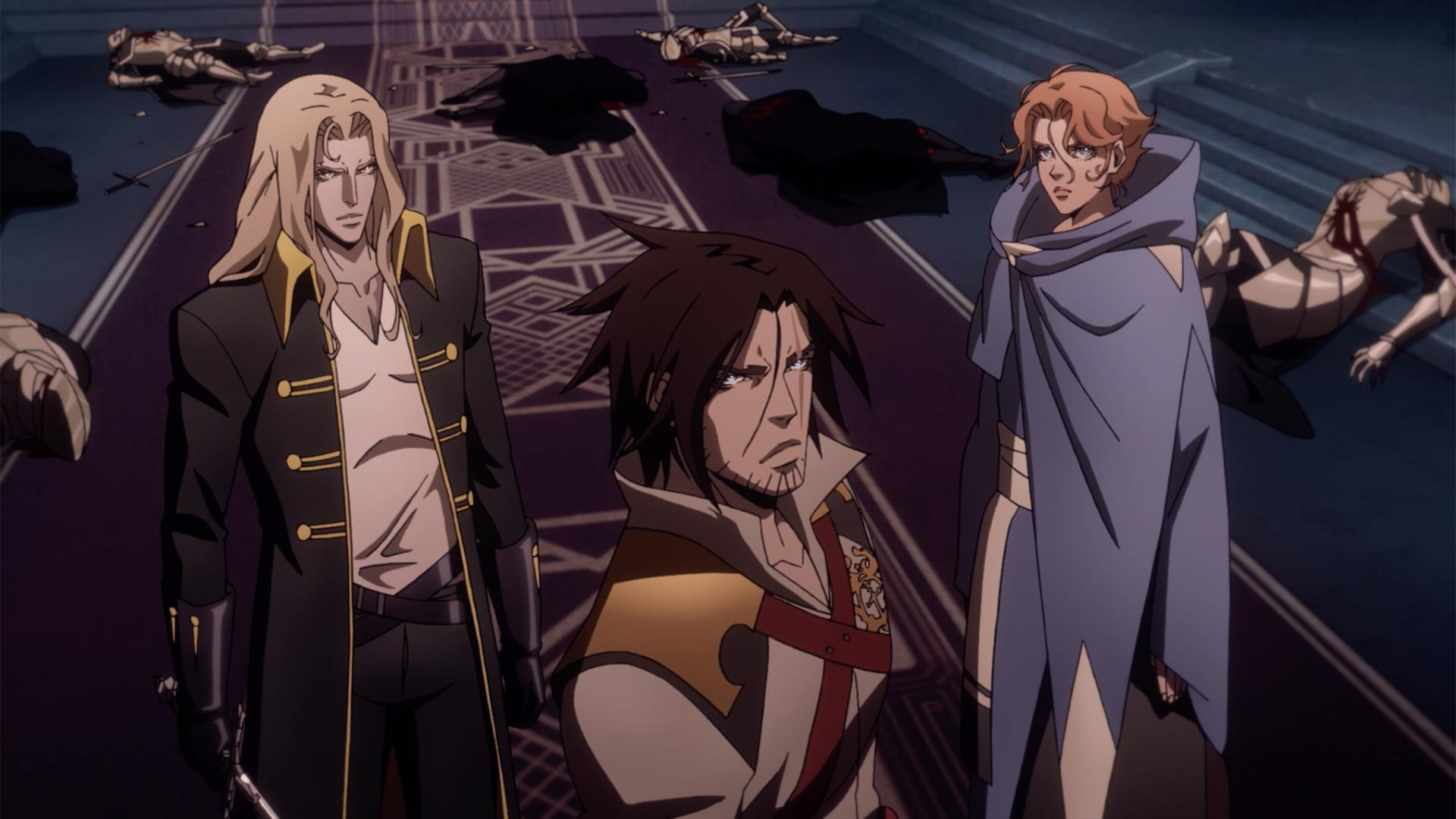 The leads of Castlevania get ready to kick some vampiric ass