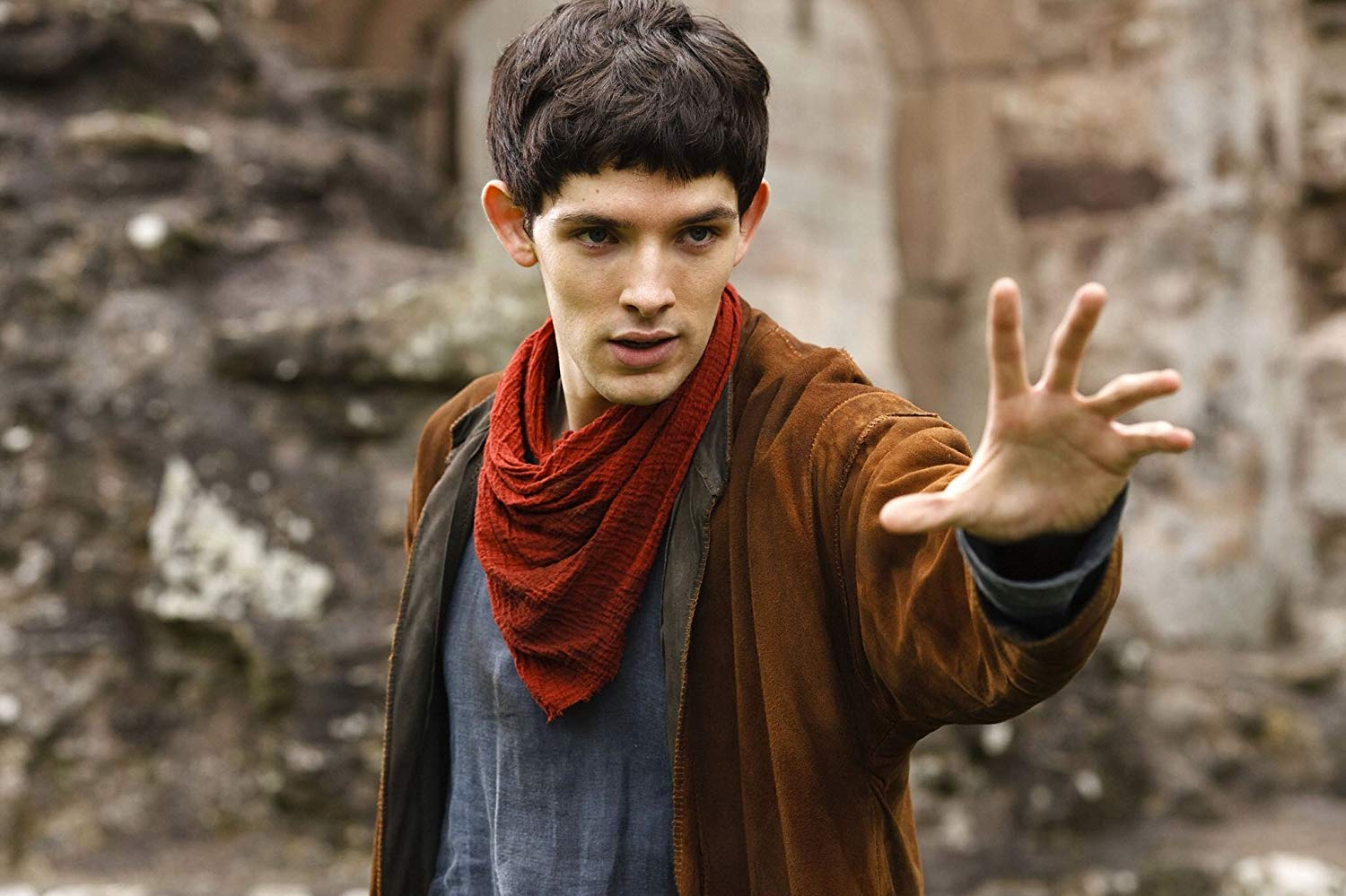 Merlin about to cast a spell