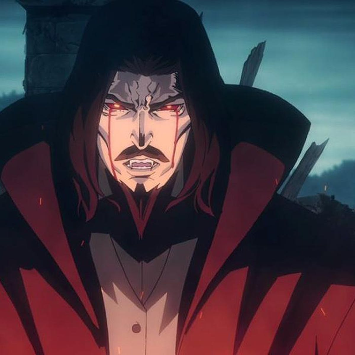 The star of Castlevania, Vlad Dracula Tepes cries very hard over his wife