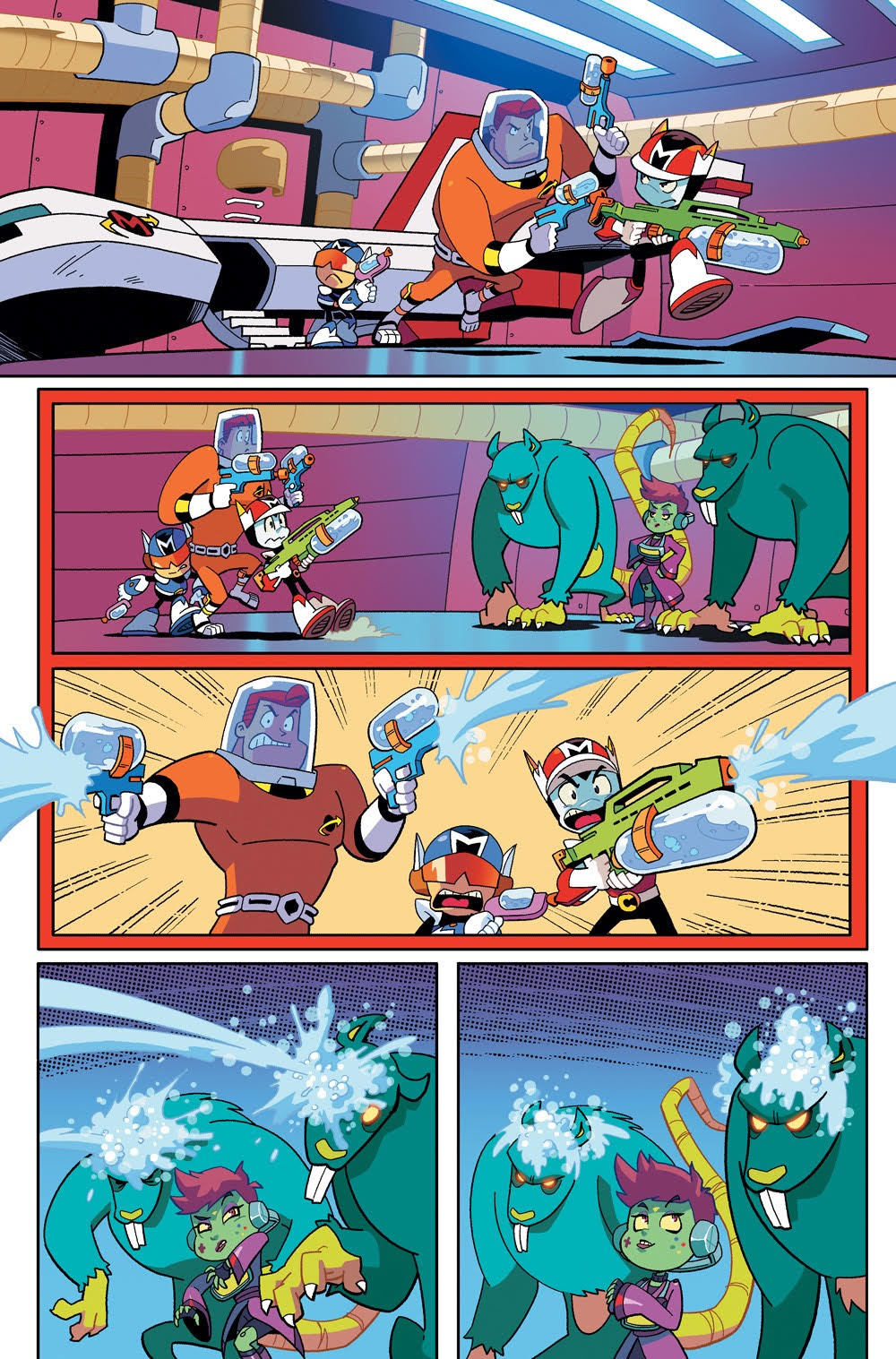Cosmo the Mighty Martian: Page 9, Going to defeat the Shih.