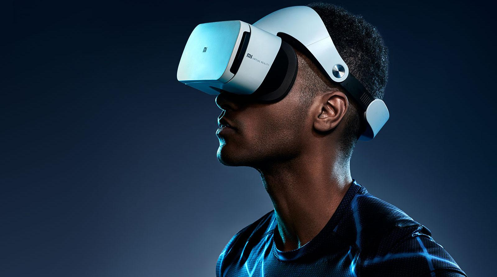 A guy wearing a VR headset in a stock photo.