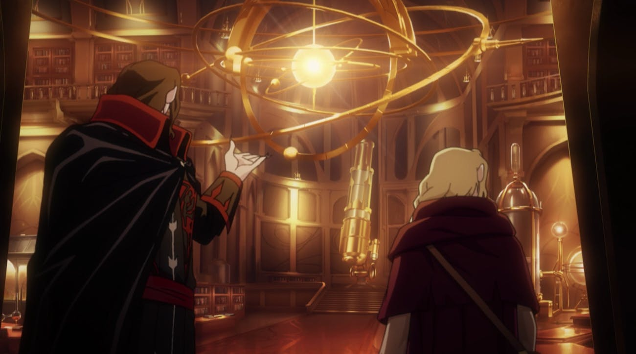 Castlevania has pretty libraries and laboratories, which is not what you would expect from a show about the supernatural