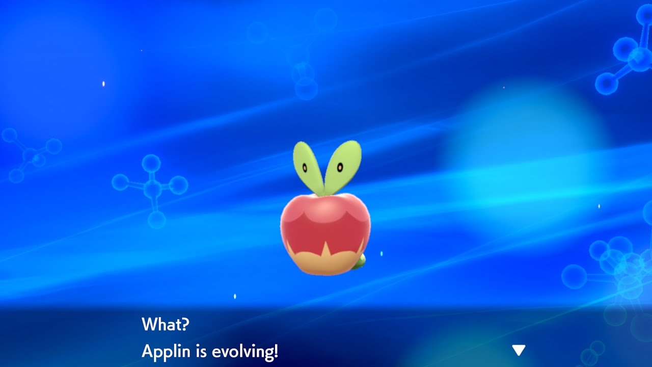 Applin evolving from Pokémon: Sword and Shield