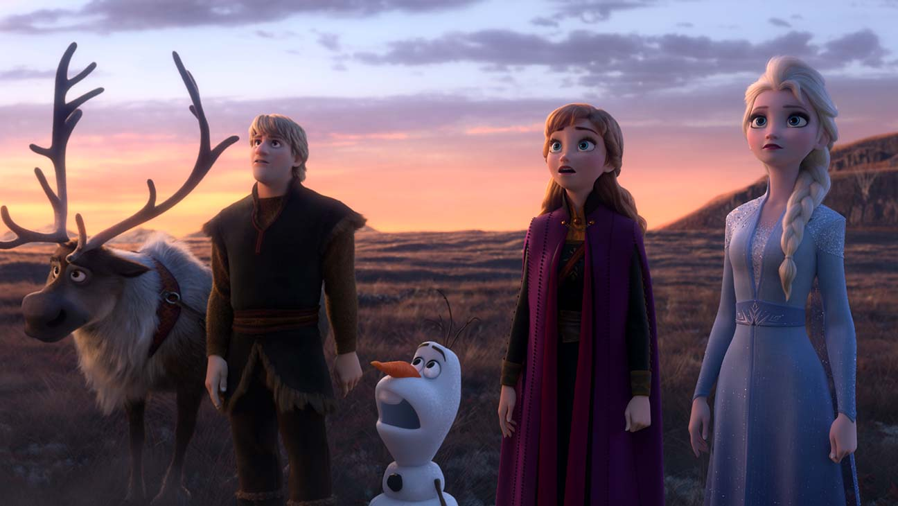 "FROZEN 2 - In Walt Disney Animation Studios' ""Frozen 2, Elsa, Anna, Kristoff, Olaf and Sven."