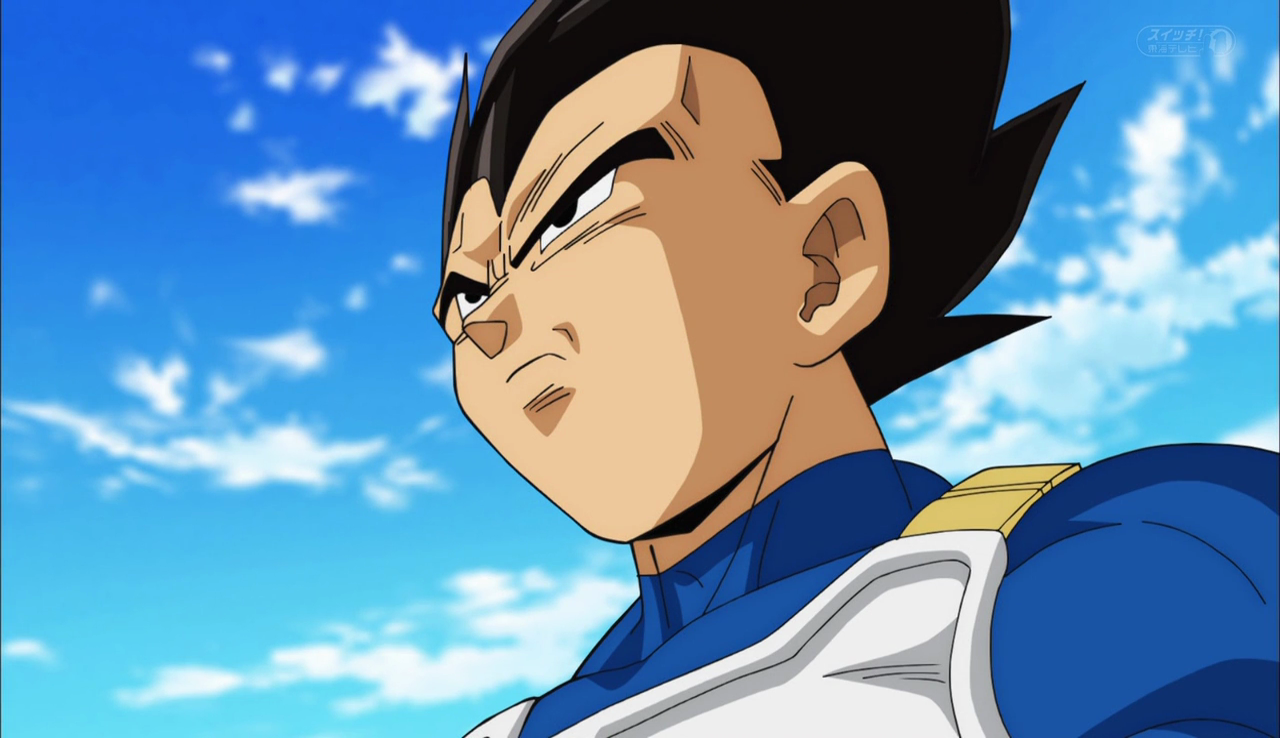 Parents: Vegeta with a focused look on his face.