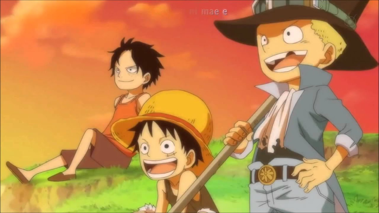 Young Ace, Luffy, and Sabo