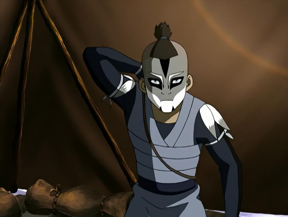 Sokka in warrior's warpaint.