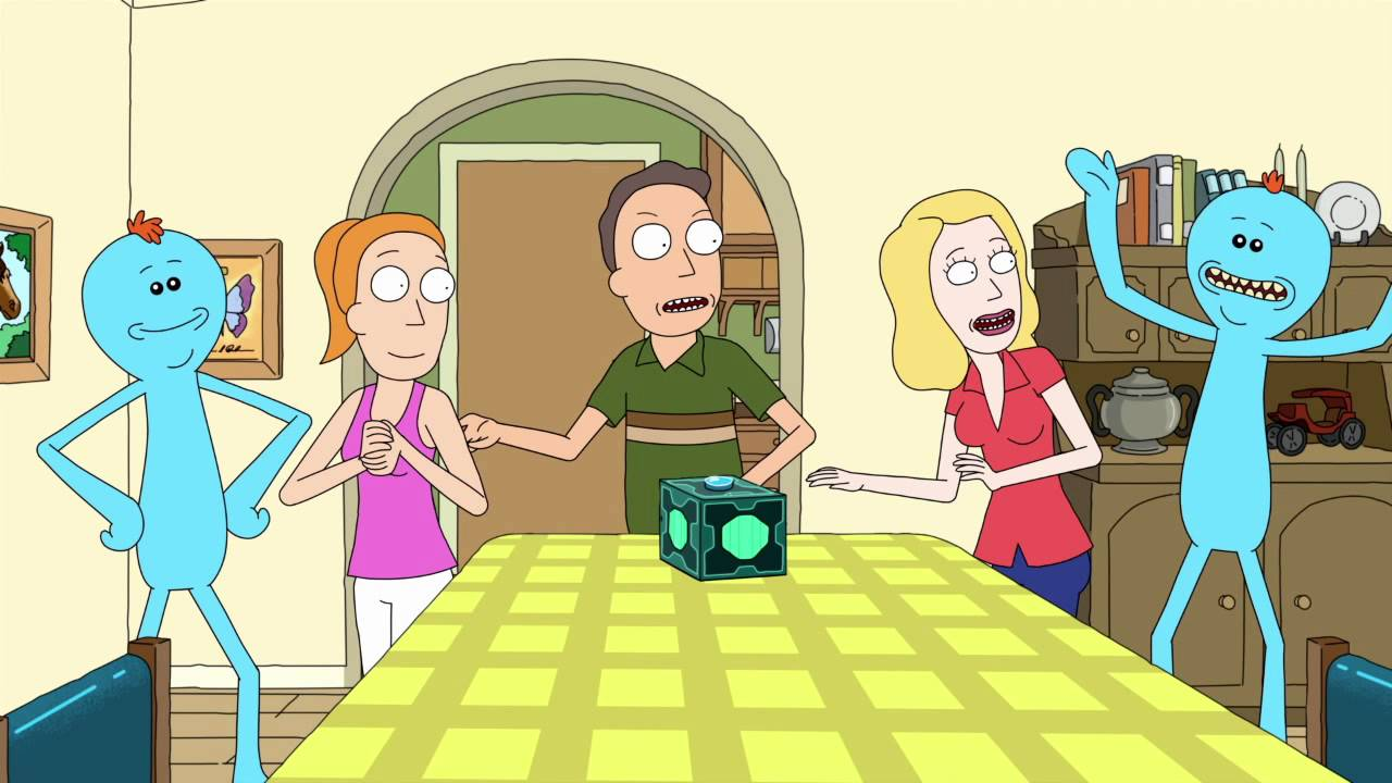 Beth, Jerry, and Summer summon two Mr. Meeseeks