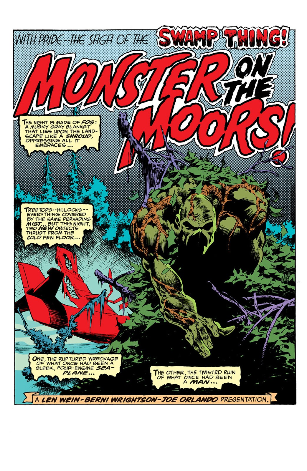 Swamp Thing rises from the wreckage.