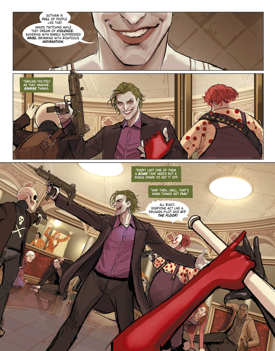 A glimpse at the future with a Joker crime spree.