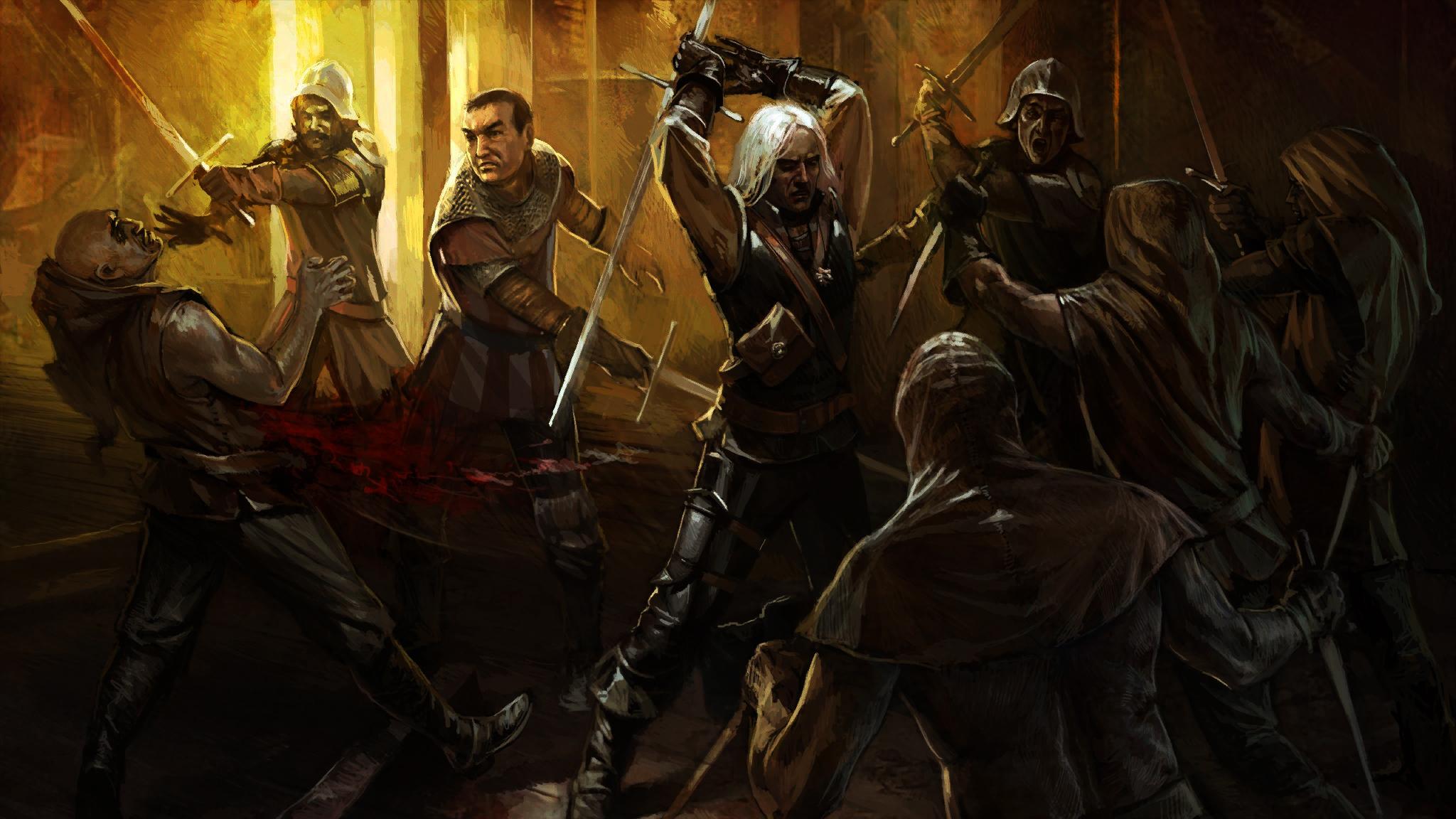 Geralt fights bandits