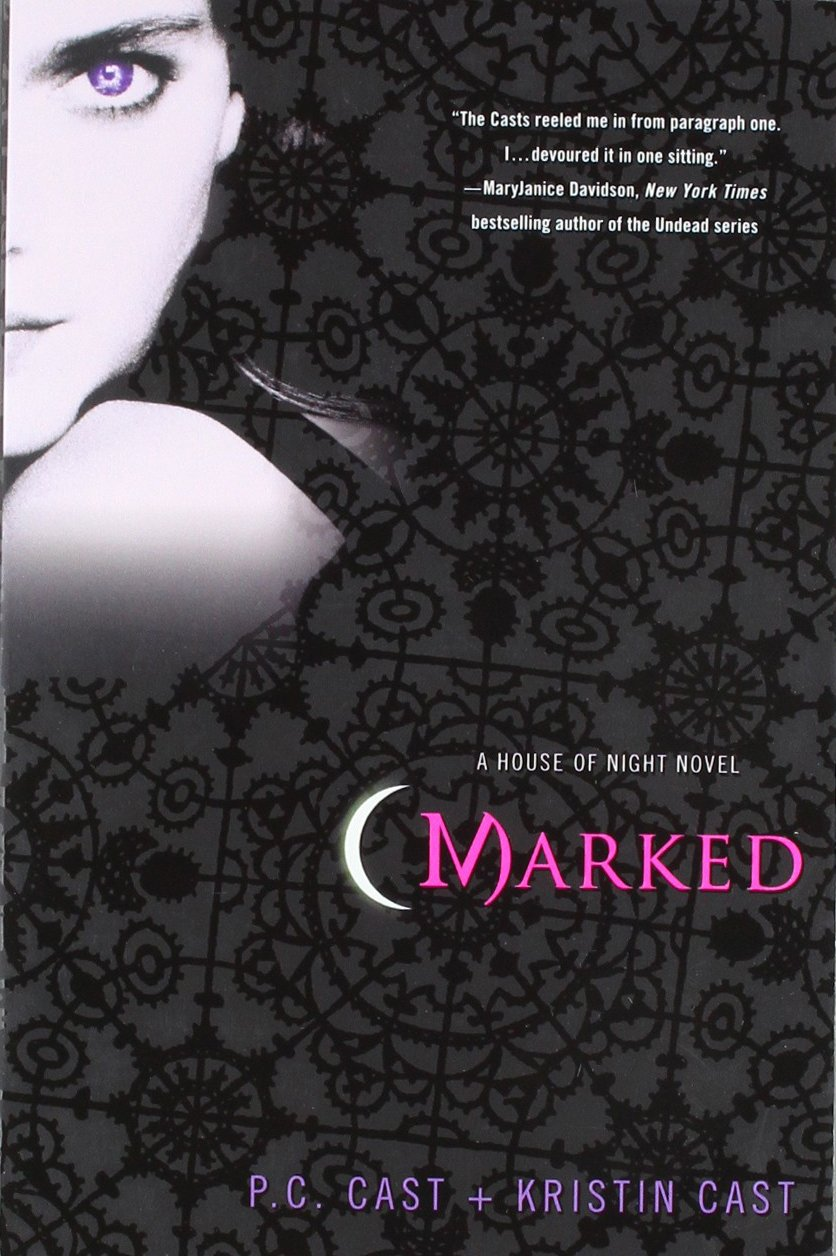 A book cover of Marked, the first Vampyre book in the series.