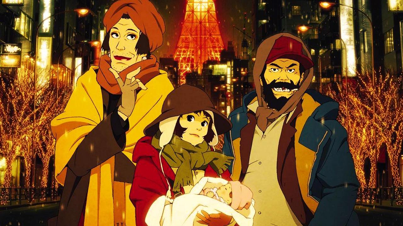 Movie post for Tokyo Grandfathers; Christmas anime