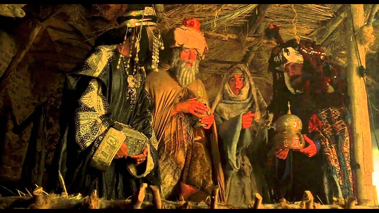 The Three Wise Men accidentally bring gold, frankincense, and myrrh to Brian instead of Jesus.