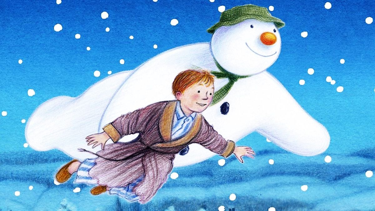 The snowman and the boy in The Snowman, 1982.