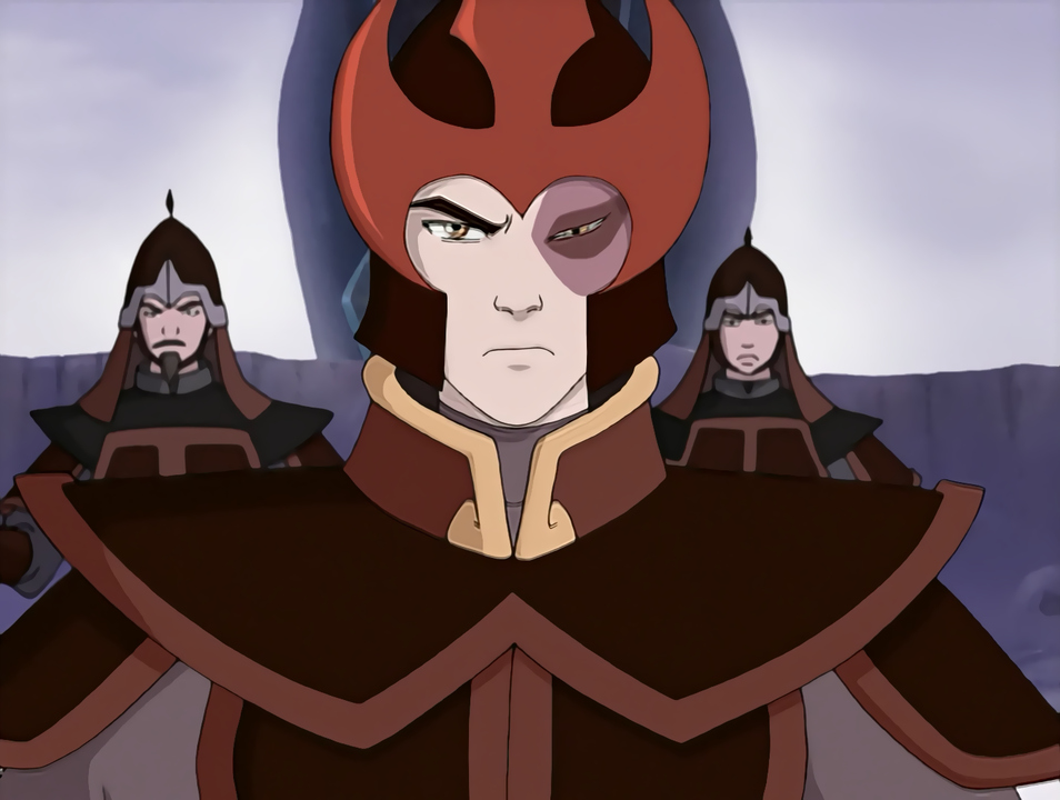 Prince Zuko in fire nation armor.