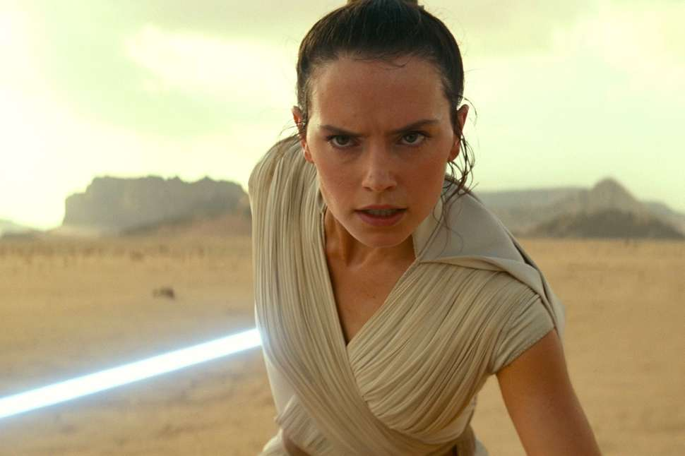 Rey in the Rise of the Skywalker.