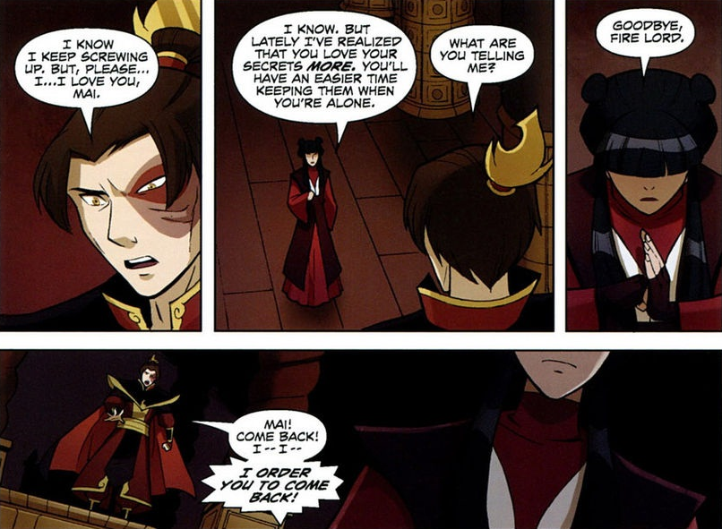 Maiko: Mai breaks up with Zuko.