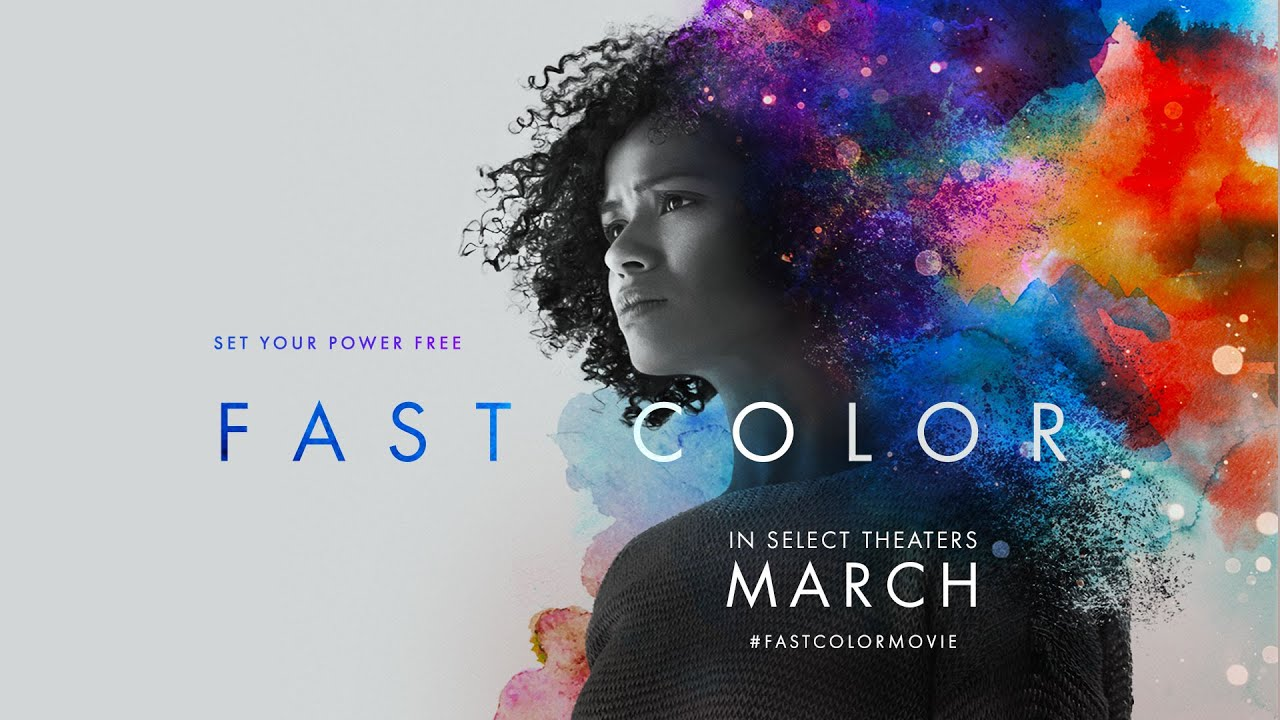 Fast Color poster featuring a semi-abstract portrait of protagonist Ruth.