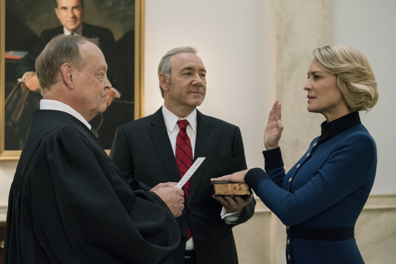 House of Cards, the streaming service Netflix's first original series.
