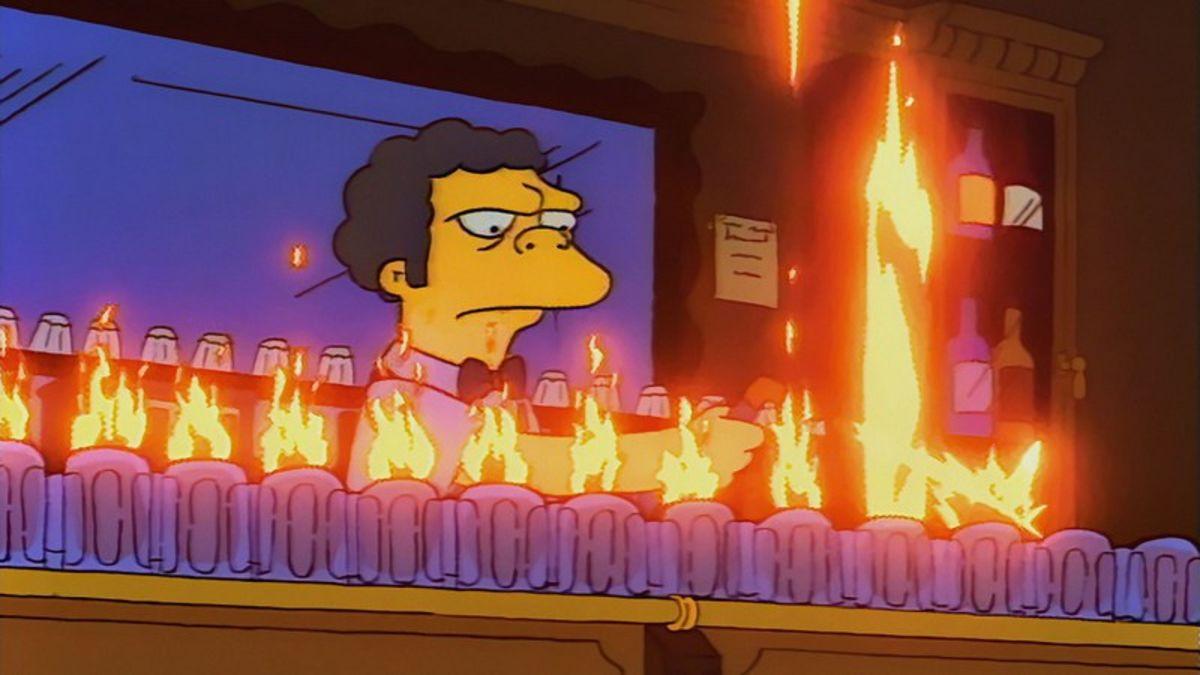 Moe in The Simpsons.